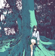 色彩构图堪称完美的日系少女插画作品图片 比例另类的表现方式 你肯定喜欢
