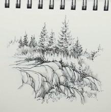【视频】对着照片风景速写手绘视频教程 钢笔风景速写画教程