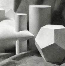 一组非常优秀的几何图形素描画参考图片 推荐素描新手临摹石膏几何形体