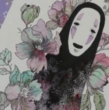 【视频】针管笔结合水彩画出超美的无脸男手绘视频教程上色过程