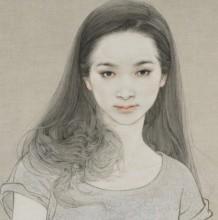 8款唯美清纯的女生头像甜美画风插画 线稿与成品对比图