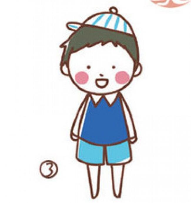可爱的男孩女孩卡通小人漫画画法和教程 男孩女孩简笔画[ 图片/6p ]