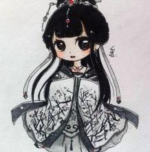 129张精美Q版小女生卡通画手绘作品手稿带上色 清纯可爱小萝莉插画图片合集