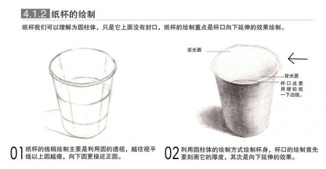 写实方形红酒杯素描绘画教程 逼真的玻璃杯子怎么画 玻璃杯怎么画有图片