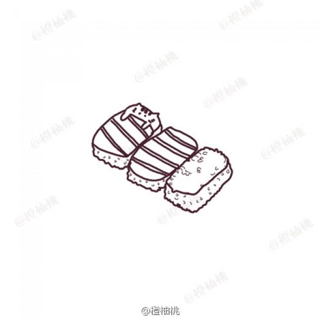 寿司简笔画图片 寿司卡通简笔画 寿司图片卡通 寿司简笔画教程画法怎