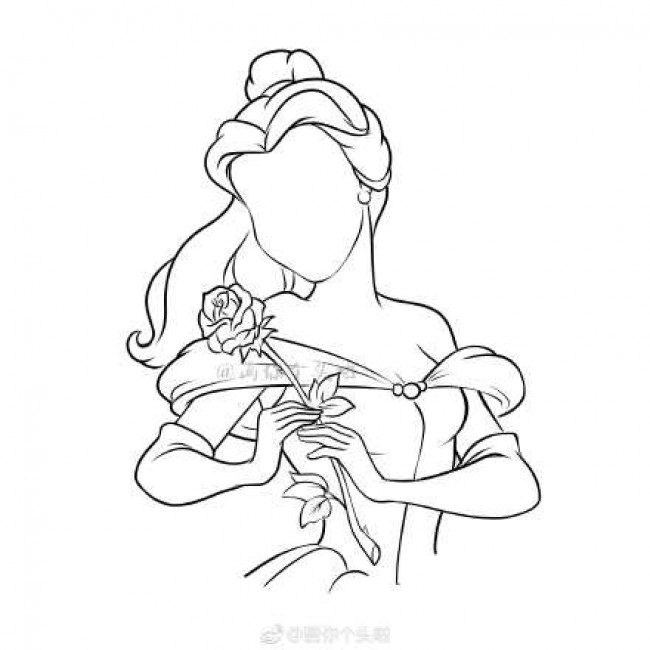 美女与野兽贝儿公主怎么画 贝儿公主简笔画画法教程图片_www.youyix.com