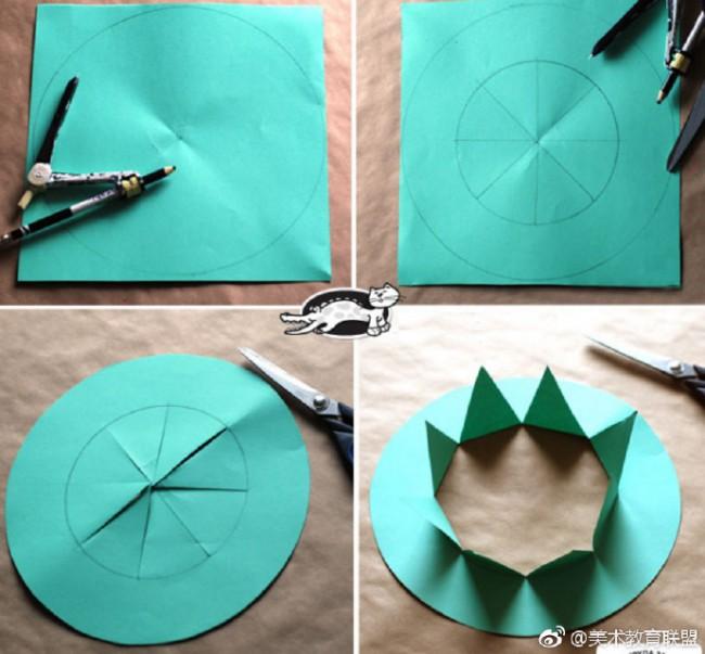 春天的皇冠 儿童创意花卉植物系皇冠剪纸手工作品教程图片_www.youyix.com