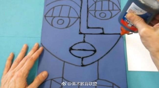 儿童色彩训练 临近色的运用 人物抽象画的上色训练教程图片_www.youyix.com