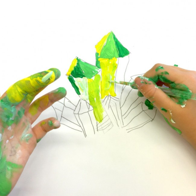 儿童色彩练习 钻石宝石的上色技巧和训练 临近色的运用_www.youyix.com