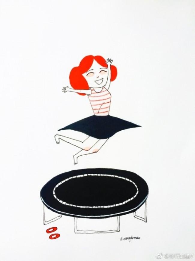 健身运动的女生简笔画教程图片 女生做各种运动的姿势简笔画画法