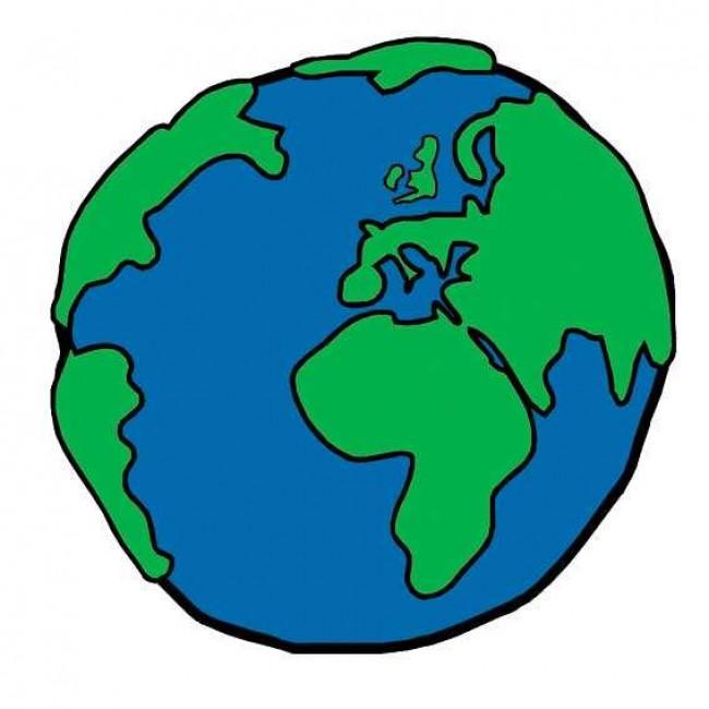 画 简单的地球简笔画 睡觉的地球宝宝卡通画画法