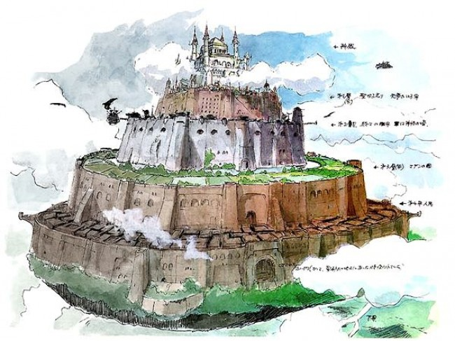 天空之城怎么画 简单的动漫天空之城卡通画画法 天空之城简笔画