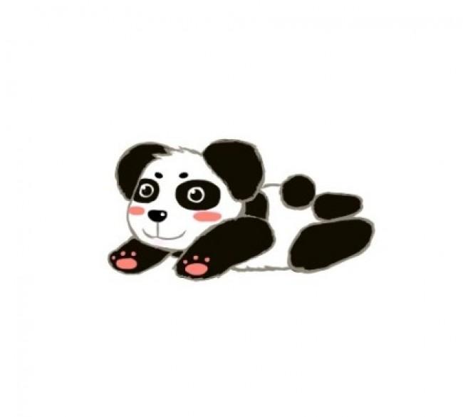 可爱呆萌的小熊猫画法 大熊猫简笔画教程 熊猫儿童画卡通画手绘 2
