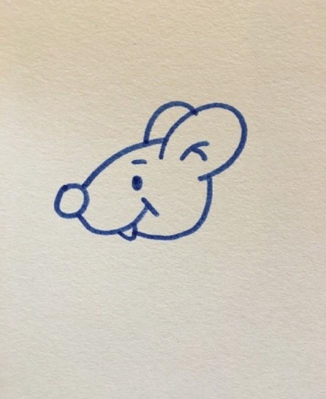 鼠卡通画 老鼠简笔画画法 老鼠儿童画教程手绘 2