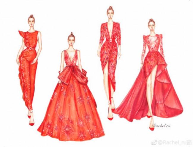 2017最新服装设计手绘作品图片 马克笔与彩铅上色_www.youyix.com