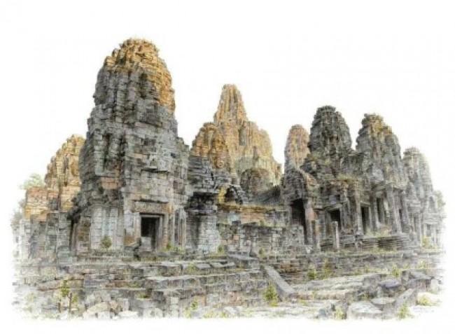 夏克梁老师的建筑马克笔写生作品图片 真实的照片级光影和色彩上色效果_www.youyix.com