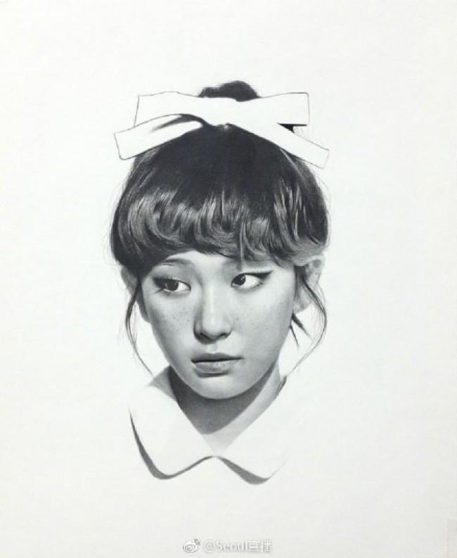 韩国知名明星的素描画图片作品 看看你心中的爱豆画的好不好_www.youyix.com