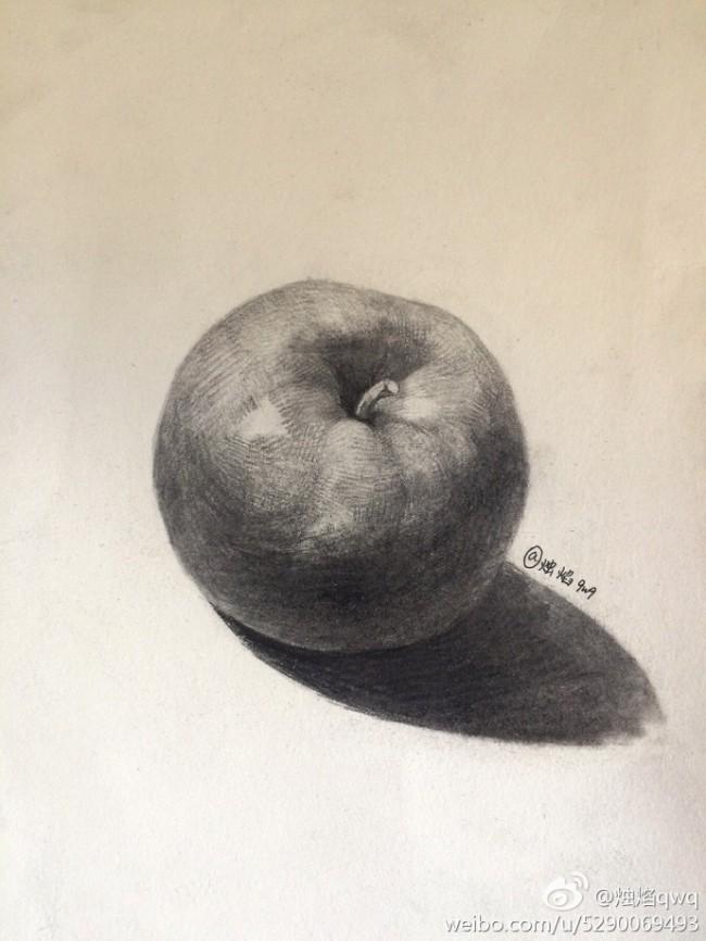 苹果的素描画手绘教程图片 苹果素描画怎么画 苹果素描的画法_www.youyix.com