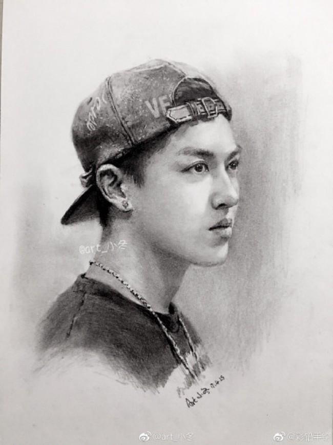 戴帽子的男青年侧身素描手绘画教程图片 戴帽子男青年侧身像素描画法 怎么画_www.youyix.com