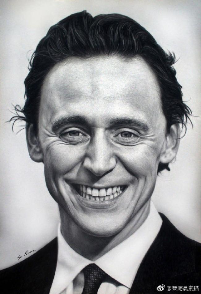 好莱坞明星写实素描作品图片欣赏 全是巨星 画的超好 逼真_www.youyix.com