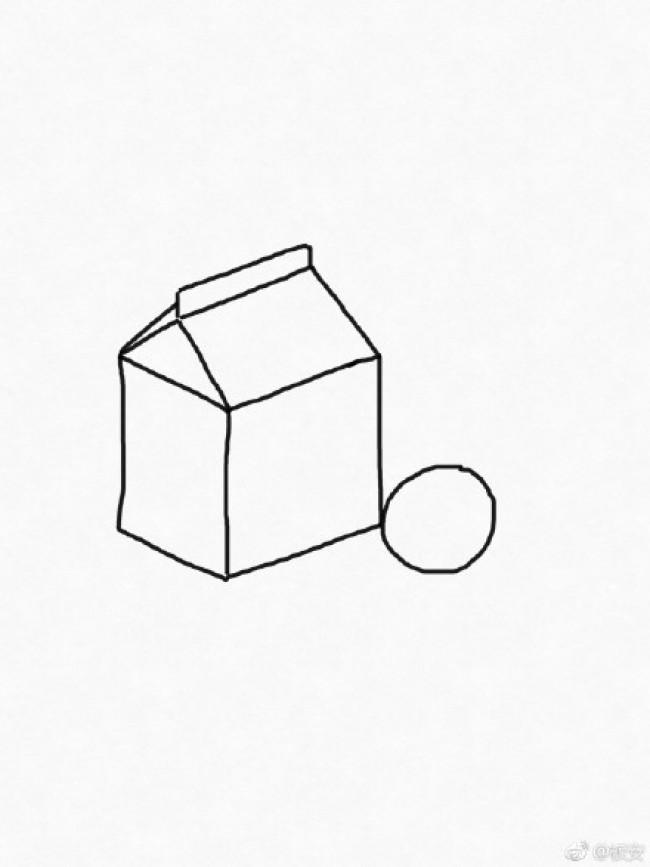 包装盒果汁和水果橙子简笔画教程图片 立体包装盒简笔画画法