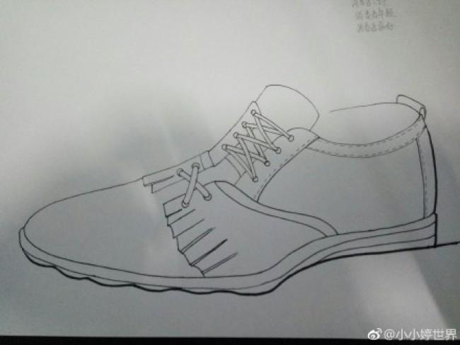 男士皮鞋产品设计手绘教程图片 马克笔上色 带线稿和上色图_www.youyix.com