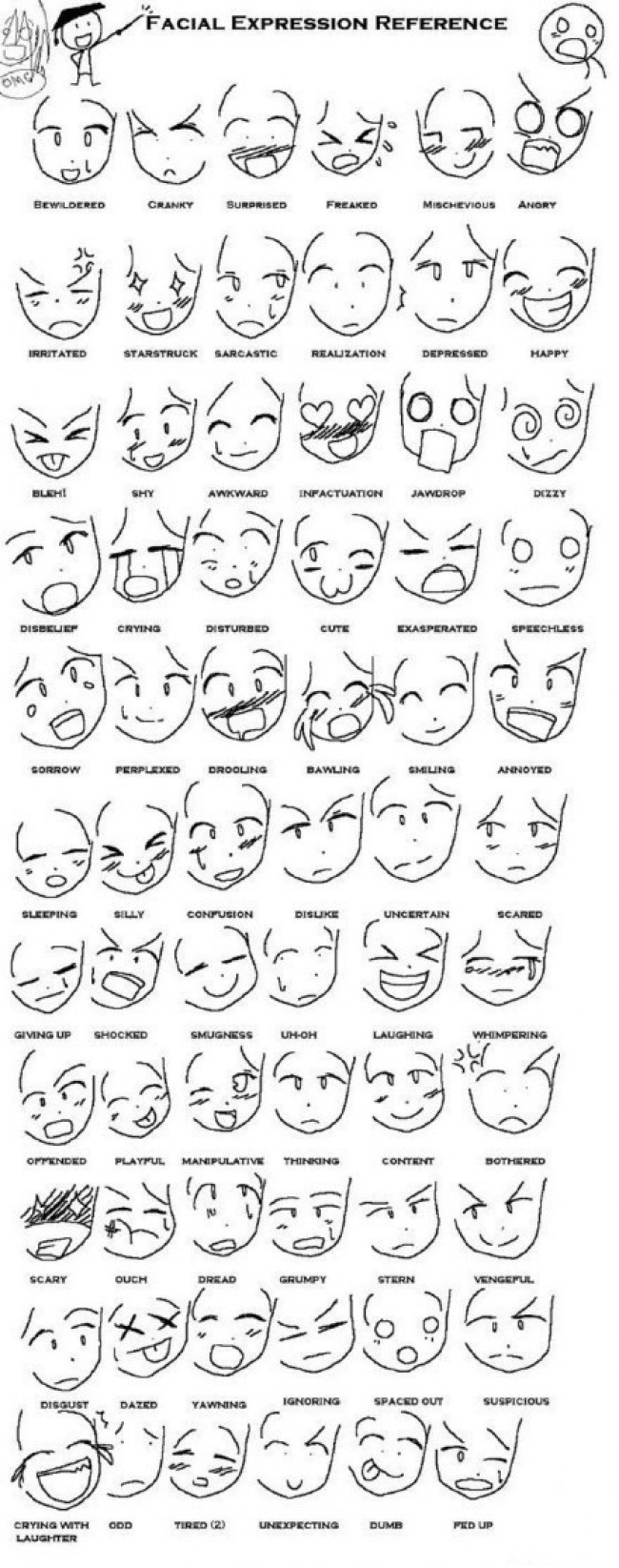 超简单人物表情简笔画大全 几百个简单的人物表情集合 简单表情卡通画_www.youyix.com