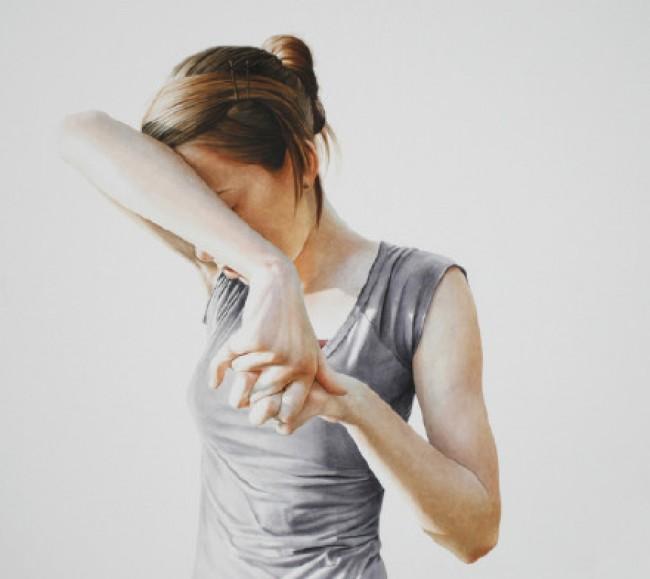超美女性肖像水彩画 唯美光源色彩 比照片还美_www.youyix.com