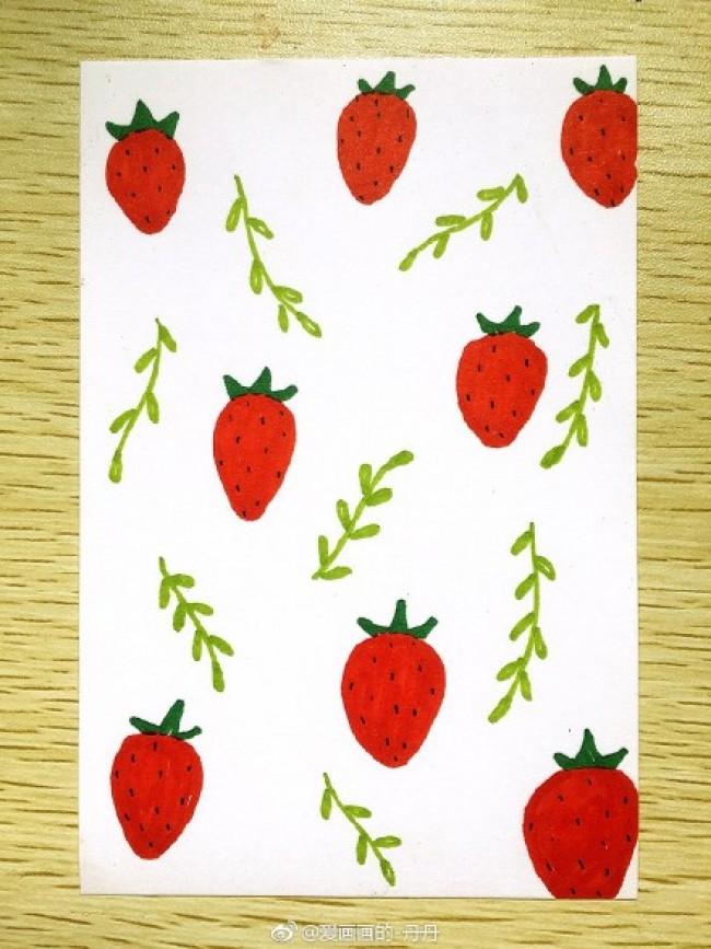简单的马克笔简笔画手绘图片 新手练习 手账素材图案_www.youyix.com