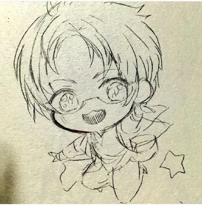 Q版可爱小男孩马克笔插画手绘教程图片步骤 可爱男生Q版插画画法_www.youyix.com