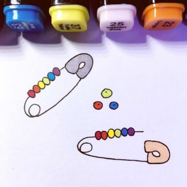 小清新简单可爱马克笔速涂练手图片素材 很有趣_www.youyix.com