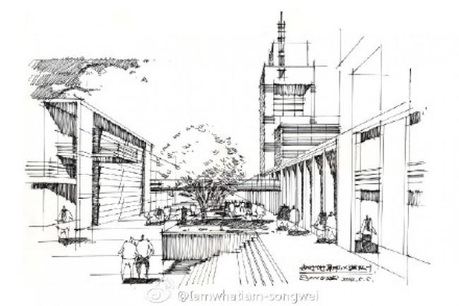 城市建筑步道长廊马克笔建筑效果图手绘教程图片_www.youyix.com
