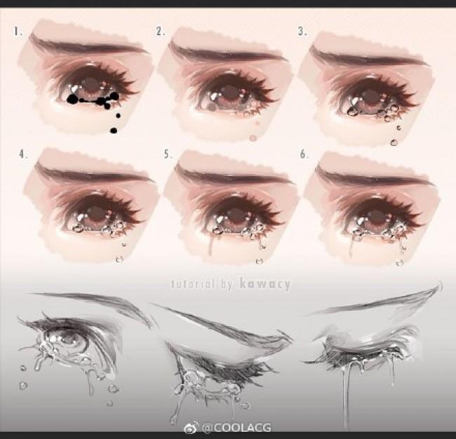 画师『kawanocy』的CG人物插画主要部位结构绘画演示教程图片_www.youyix.com