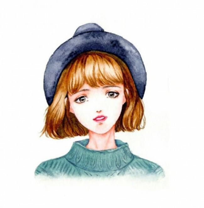 女生水彩头像图片合集 超多漂亮好看的女生水彩头像图片_www.youyix.com