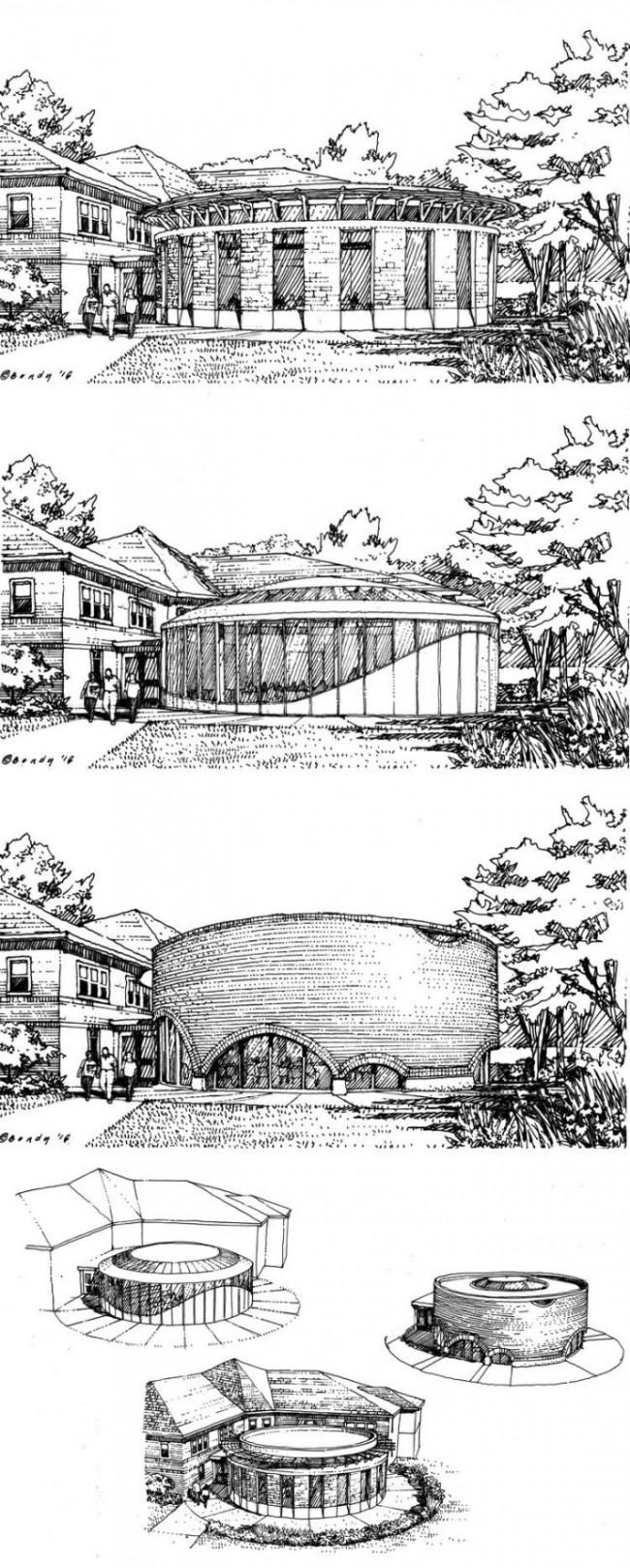 系列建筑景观效果图彩铅手绘教程图片 室外建筑景观效果图怎么画 步骤画法_www.youyix.com