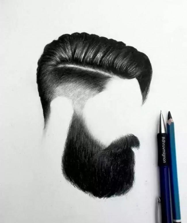 男士发型素描黑白手绘图片素材 2017男生帅酷发型案例示例图片_www.youyix.com