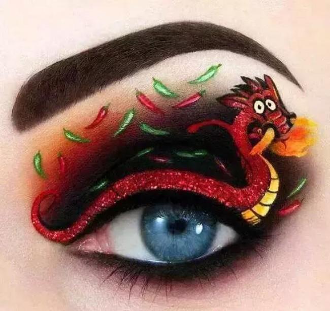 当插画结合眼妆 画在眼睛上的插画作品 很有趣也很有创意!_www.youyix.com
