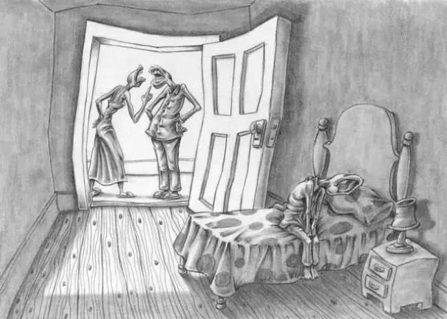 描绘人性的插画!每一张插画都深深刺痛着我的心!_www.youyix.com