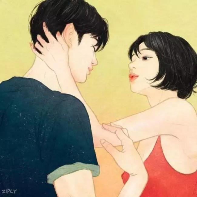 情侣小清新插画很淡很轻但超温暖 单身狗注意,可能会被虐的很惨!_www.youyix.com
