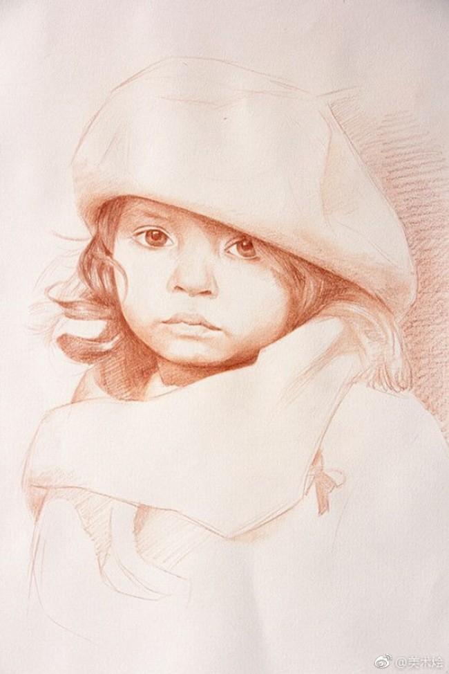 可爱的国外小女生彩铅手绘教程图片 可爱国外女孩子彩铅怎么画 画法_www.youyix.com