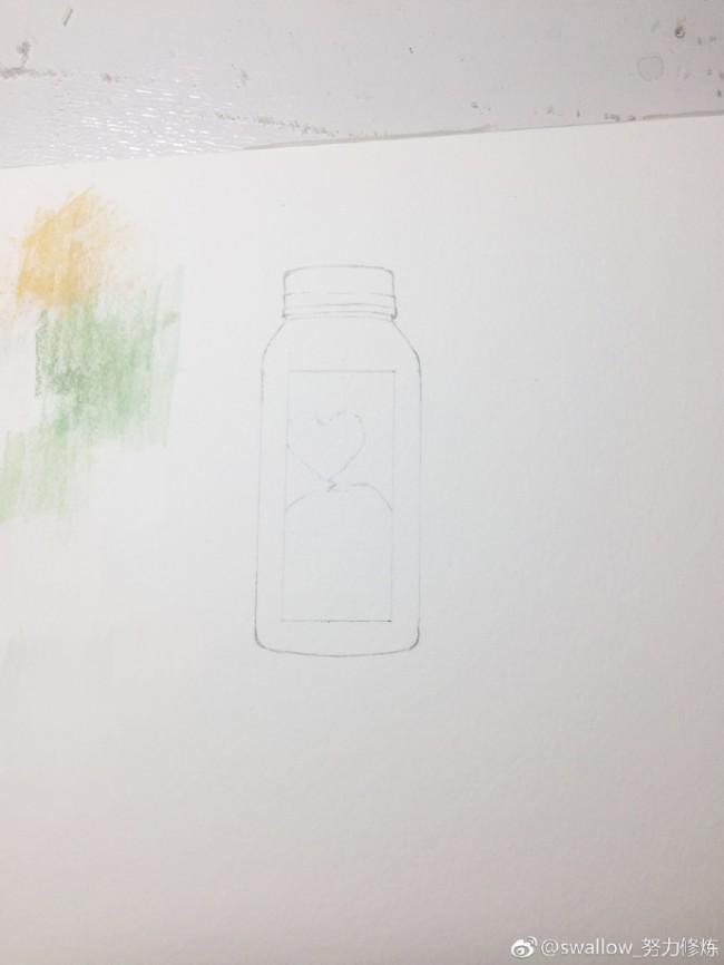味全每日鲜果汁饮料水彩画图片教程 果汁水彩手绘教程_www.youyix.com
