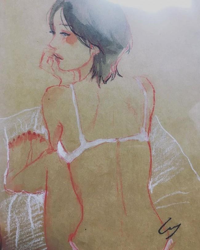 表现女性内心情感与波动的唯美插画 日本美女画师Shinri_www.youyix.com