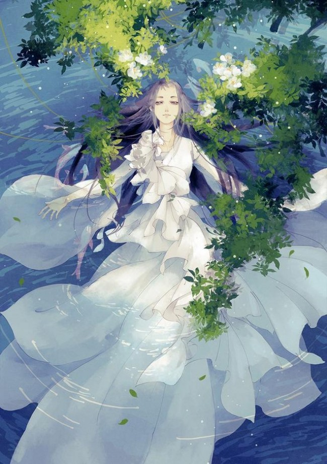 美到心底的唯美古风人物手绘插画图片_www.youyix.com