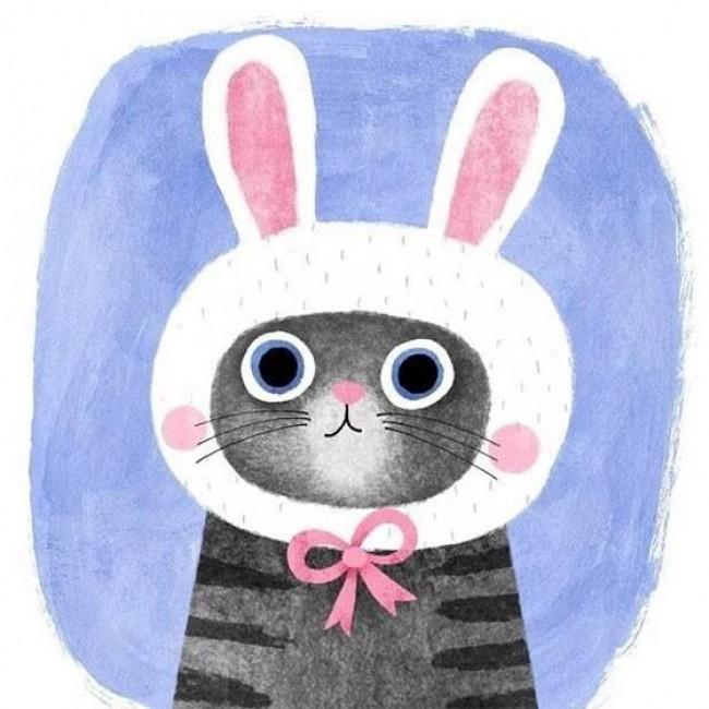 非常可爱的唯美猫咪插画作品_www.youyix.com
