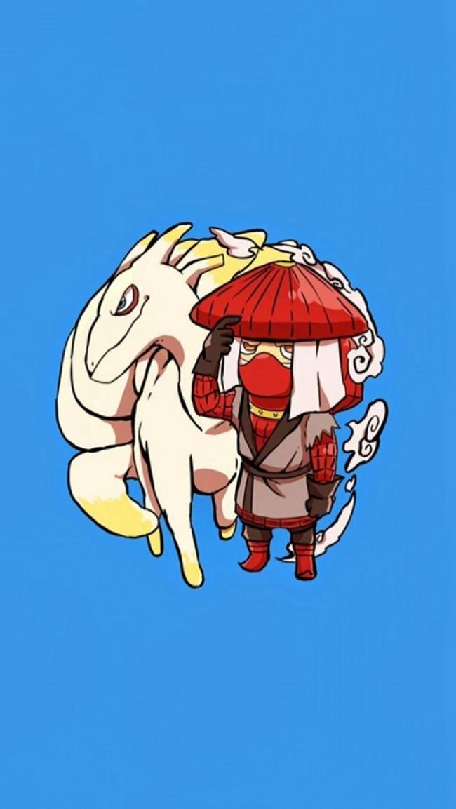 火影忍者9位人柱力以及他们的尾兽超萌插画图片_www.youyix.com