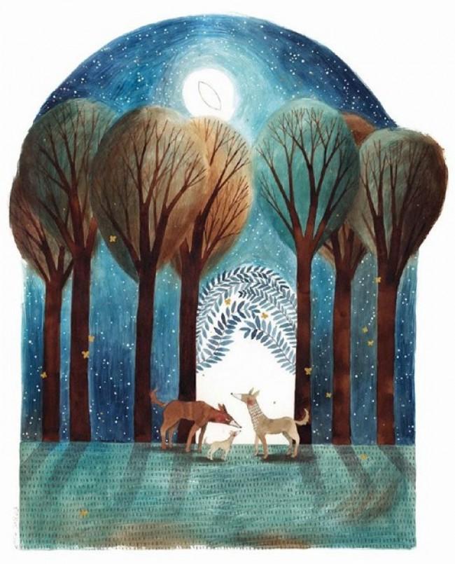 充满童话色彩的唯美插画作品 很治愈的画风和效果_www.youyix.com