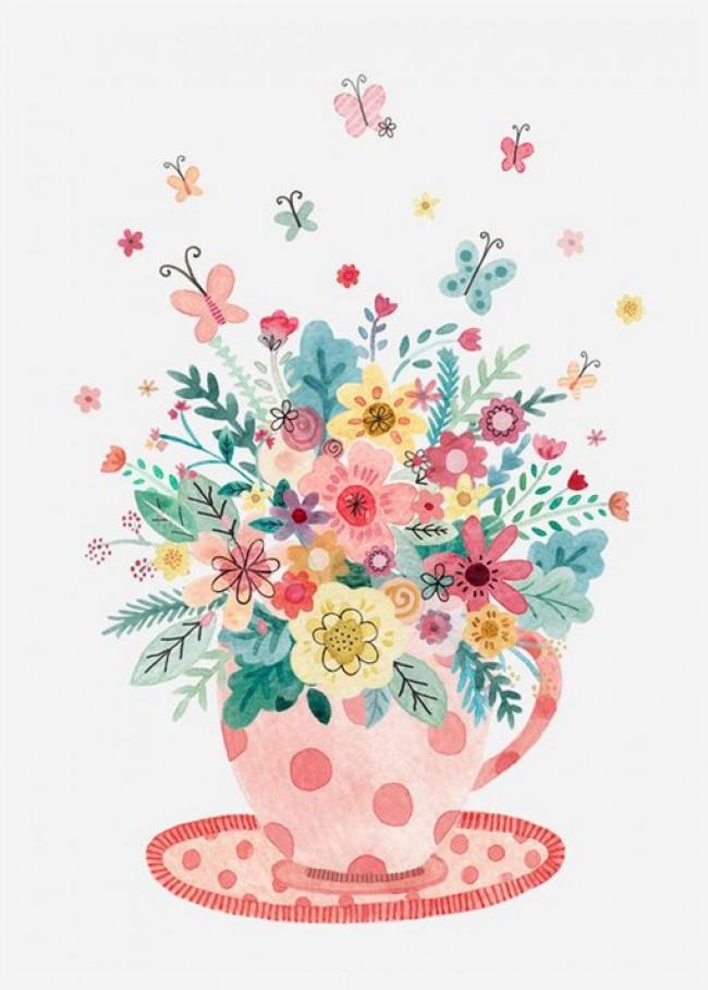 美丽的色彩 童话般治愈系唯美插画图片_www.youyix.com