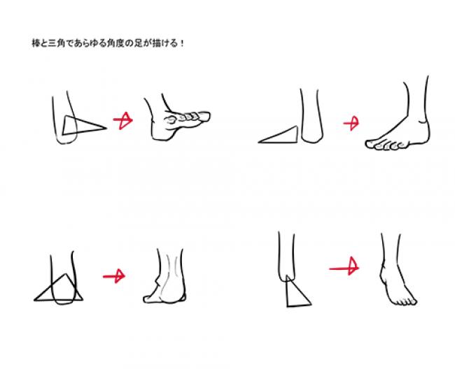 动漫人物的脚怎么画?人的脚的画法 脚的结构图片 脚掌 脚趾头_www.youyix.com