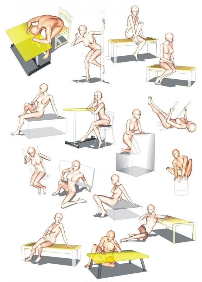 男女动漫人物 人体姿势模型演示图片 各种姿势和动态都有_www.youyix.com