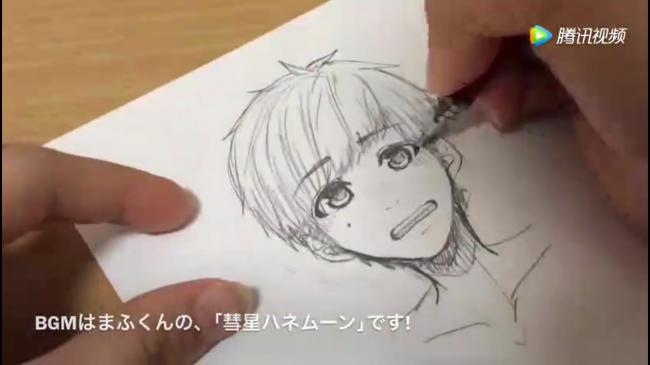 阳光男孩子的马克笔画教程, 看,他害羞了_www.youyix.com